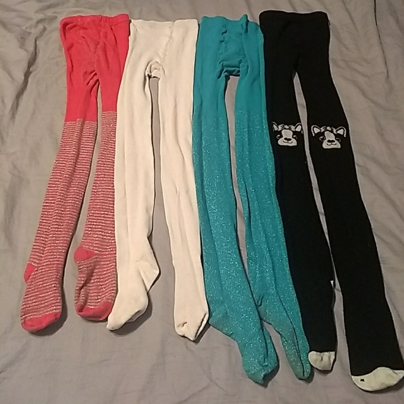 a9cc9b6c9f053 Accessories   All 4 Pair Little Girls Tights Bundle Only   Poshmark